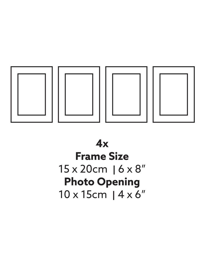 Instant Gallery Wall 7 Piece Frame Set Black image 7