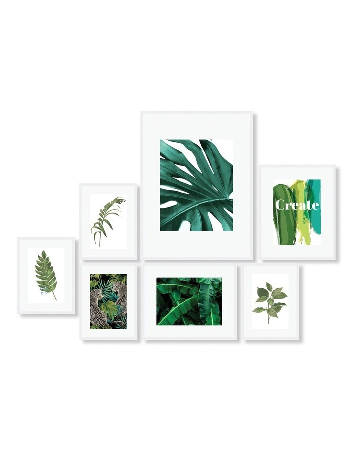Instant Gallery Wall 7 Piece Frame Set White image 1