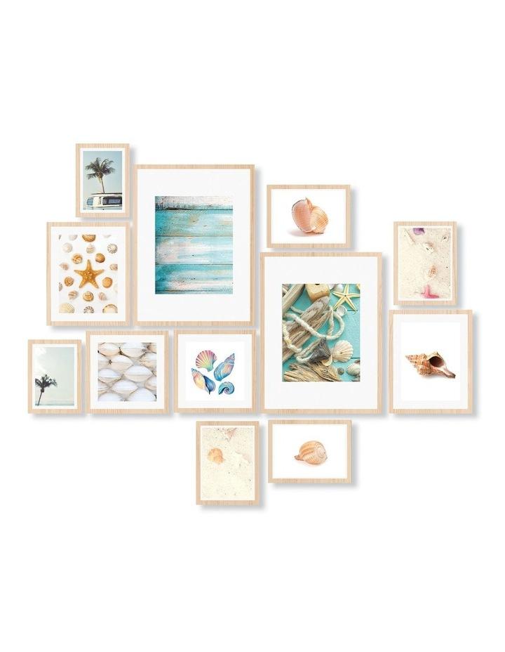 Instant Gallery Wall 12 Piece Frame Set Oak image 1