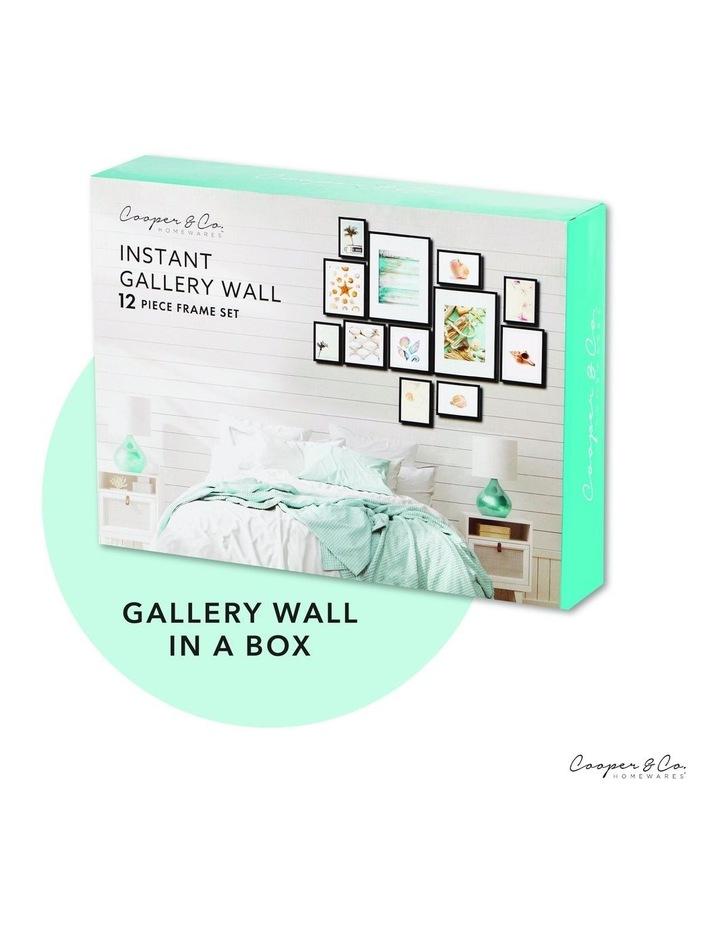 Instant Gallery Wall 12 Piece Frame Set Oak image 2