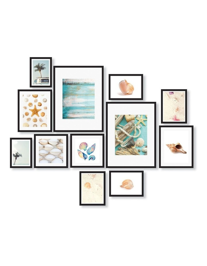 Instant Gallery Wall 12 Piece Frame Set Black image 1