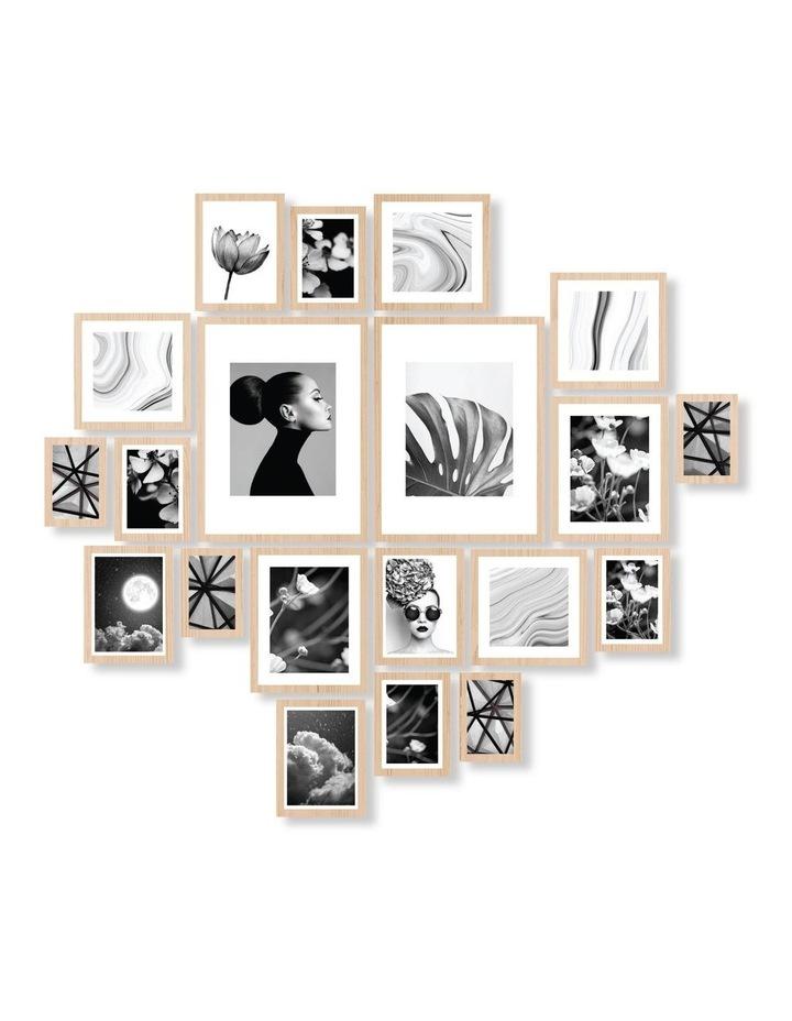 Instant Gallery Wall 20 Piece Frame Set Oak image 1