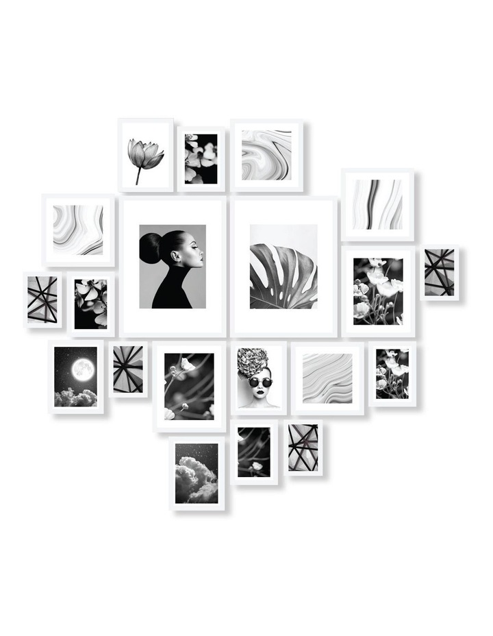 Instant Gallery Wall 20 Piece Frame Set White image 1