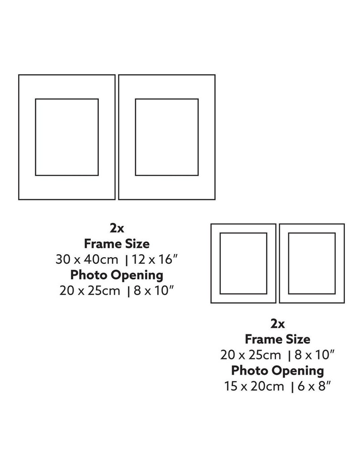 Instant Gallery Wall 20 Piece Frame Set White image 4