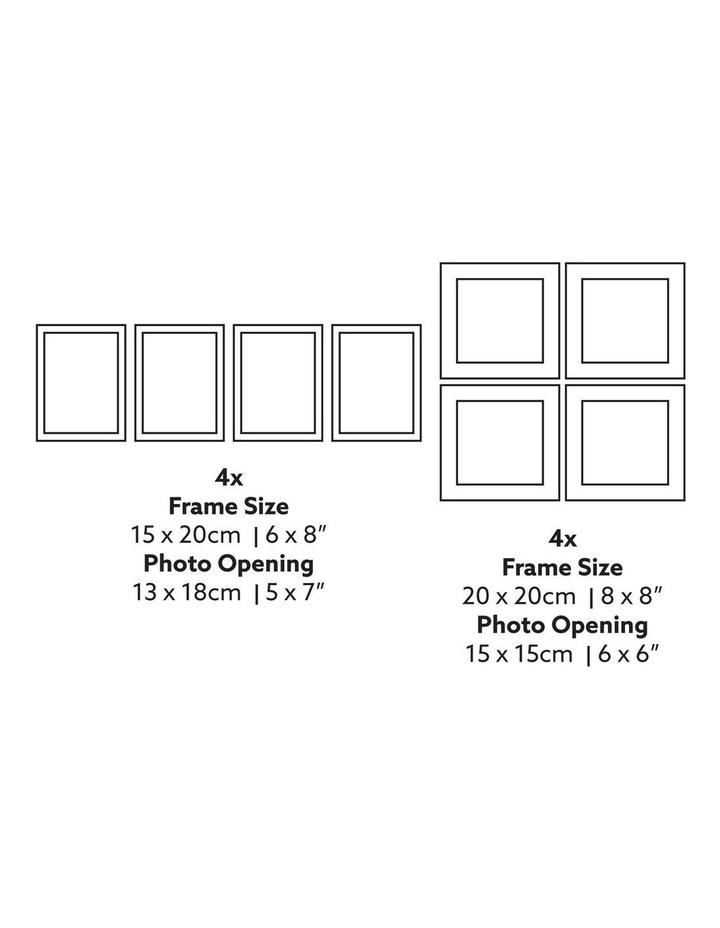 Instant Gallery Wall 20 Piece Frame Set White image 5