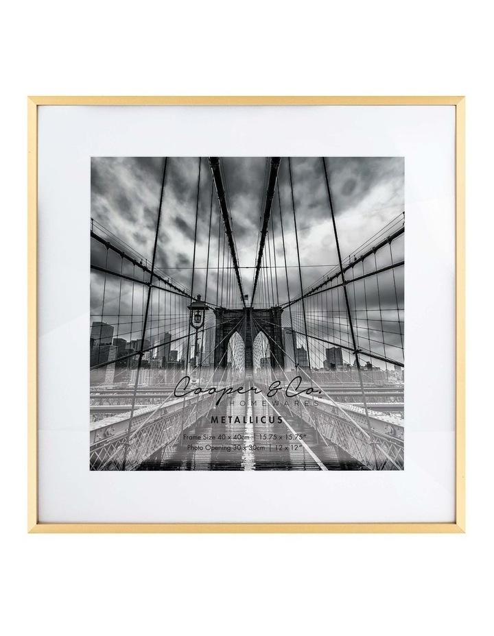 40x40cm Mat to 30x30cm Metallicus Metal Photo Frame Gold image 1