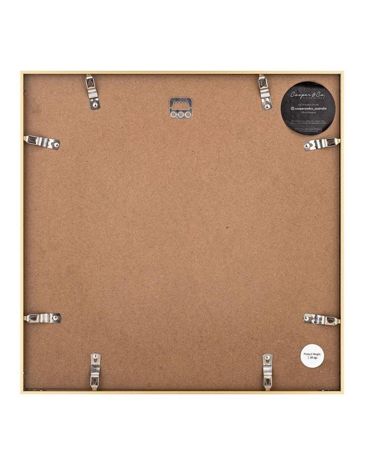 40x40cm Mat to 30x30cm Metallicus Metal Photo Frame Gold image 2