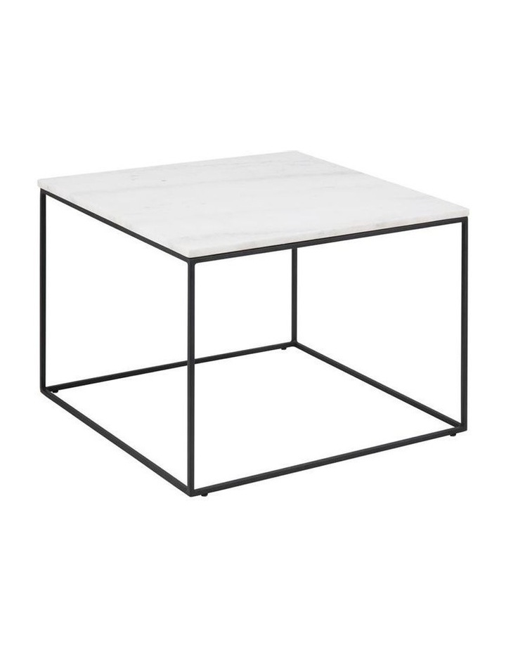 Living 60cm Bolton Square Marble-Top Coffee Table image 1