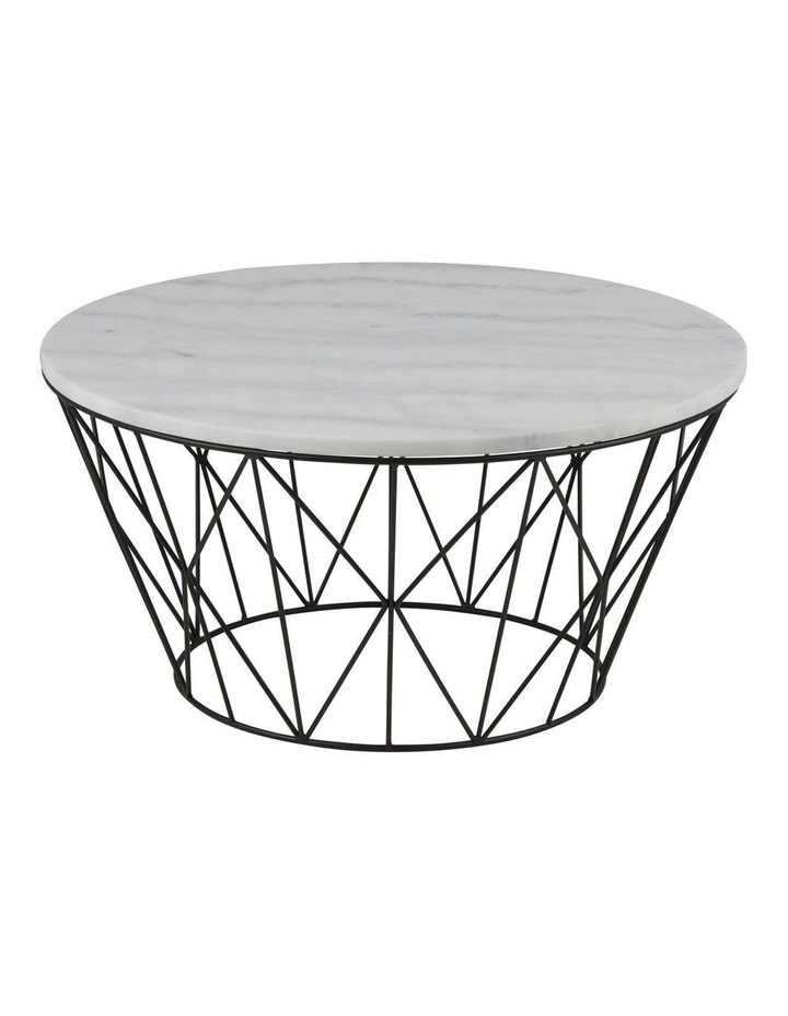 Living 80cm Dudley Round Marble-Top Coffee Table image 1