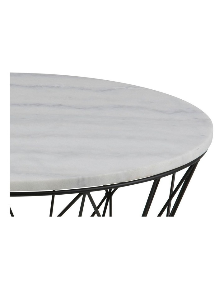 Living 80cm Dudley Round Marble-Top Coffee Table image 3