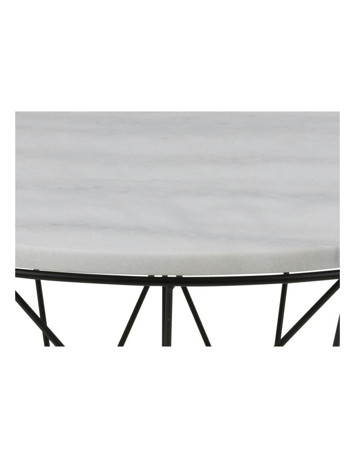 Living 80cm Dudley Round Marble-Top Coffee Table image 5