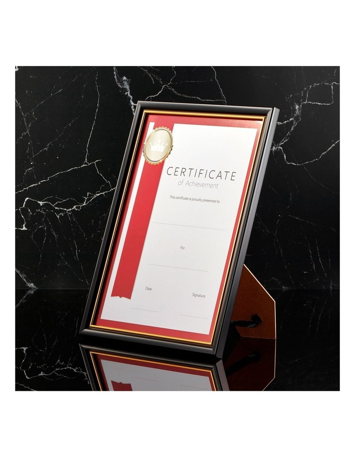 6pk A4 Classic Certificate Frame Black/Gold image 3