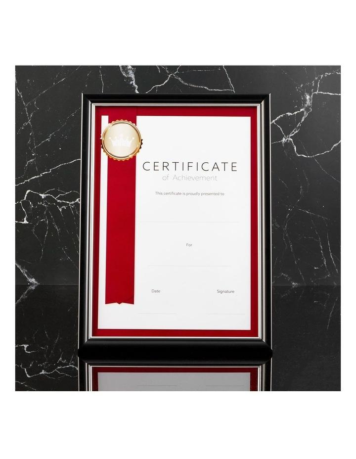 6pk A4 Classic Certificate Frame Black/Silver image 4