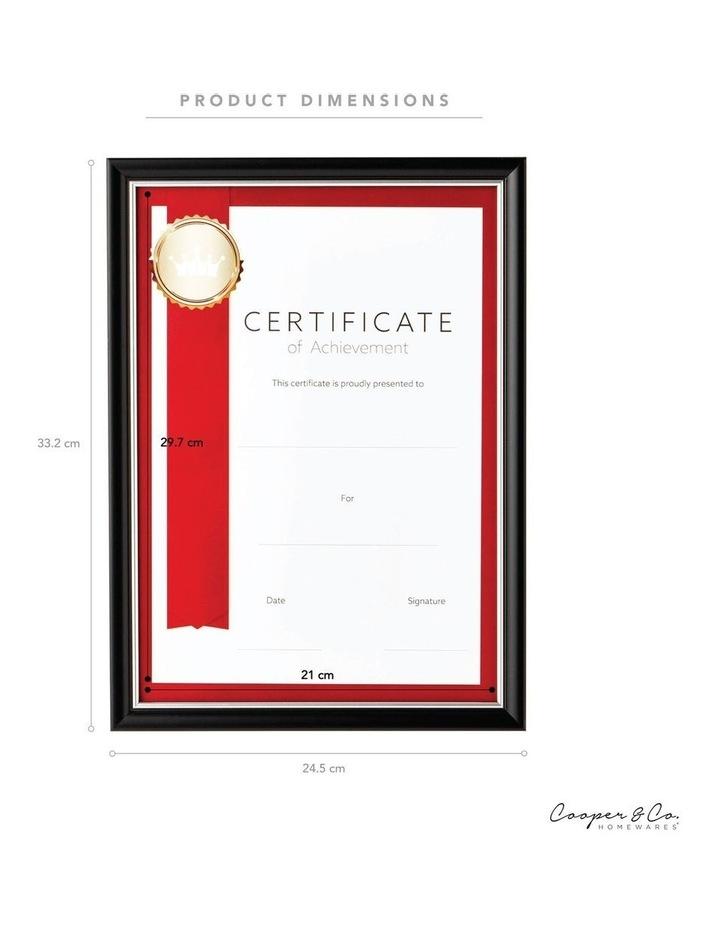 6pk A4 Classic Certificate Frame Black/Silver image 7