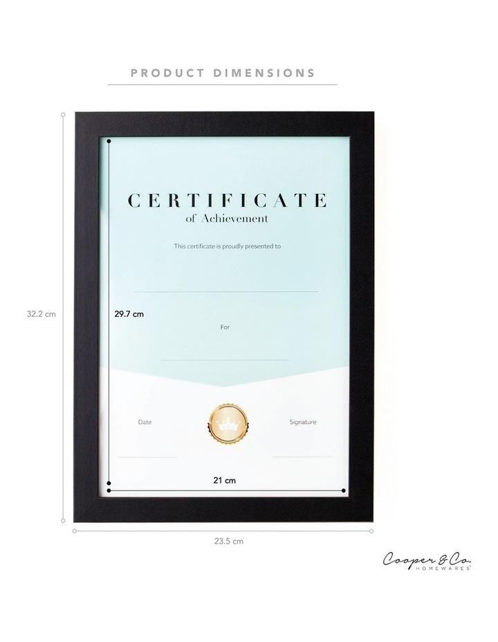 6pk A4 Urban Certificate Frame Black image 6