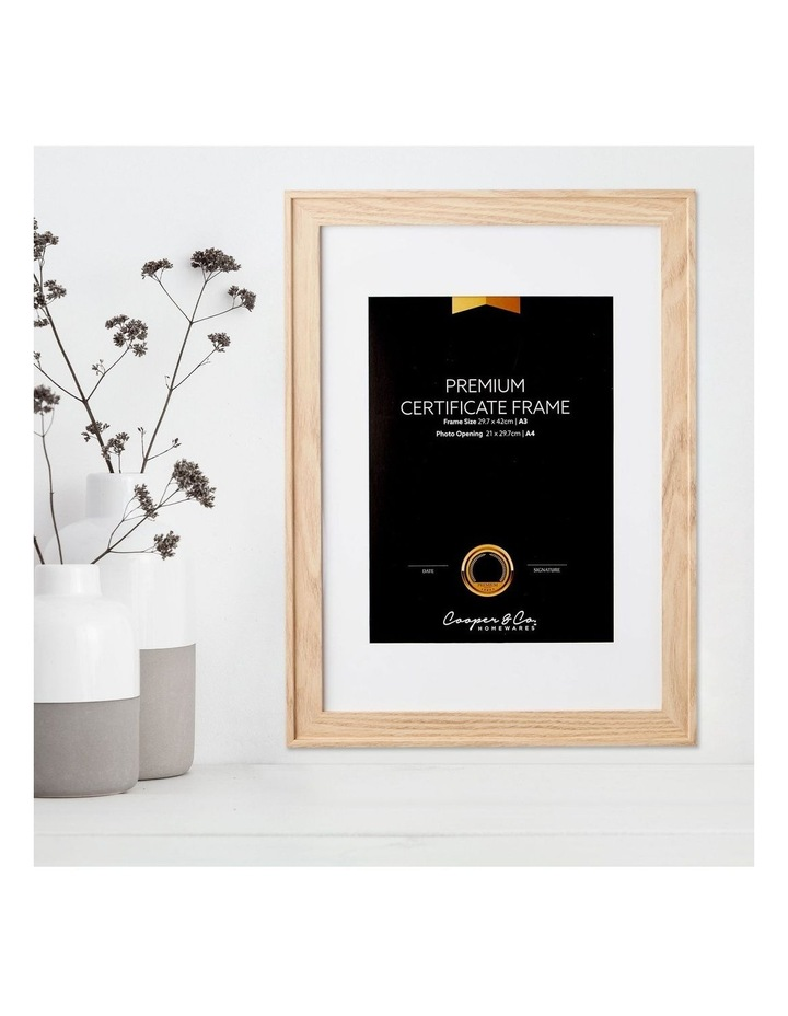 2pk A3 Noose Certificate Frame Natural image 2