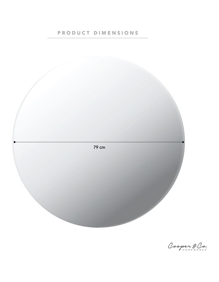 Cooper & Co. Large Urban Frameless Round Mirror image 3