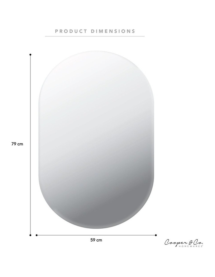 Cooper & Co. Large Urban Frameless Oval Mirror image 3