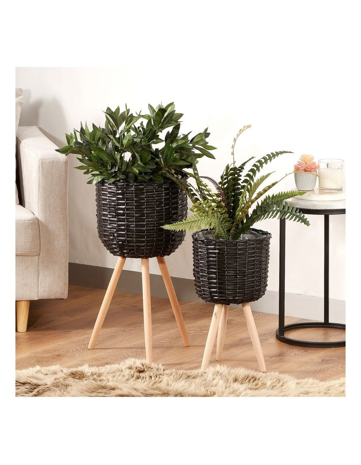 Willow Pot Planter Black Set of 2 image 2