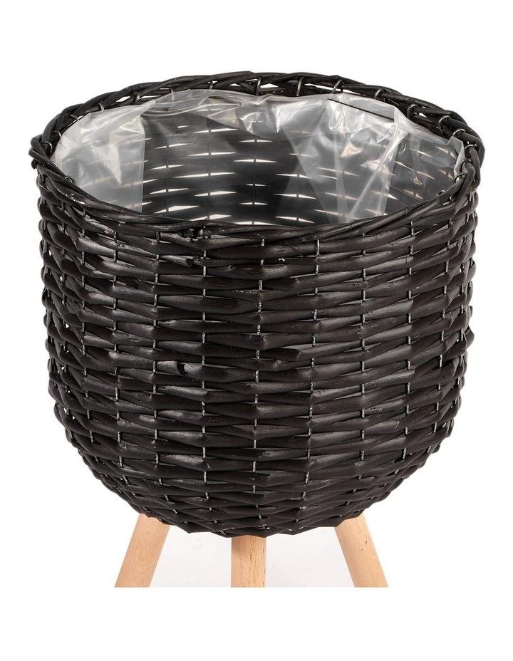Willow Pot Planter Black Set of 2 image 3