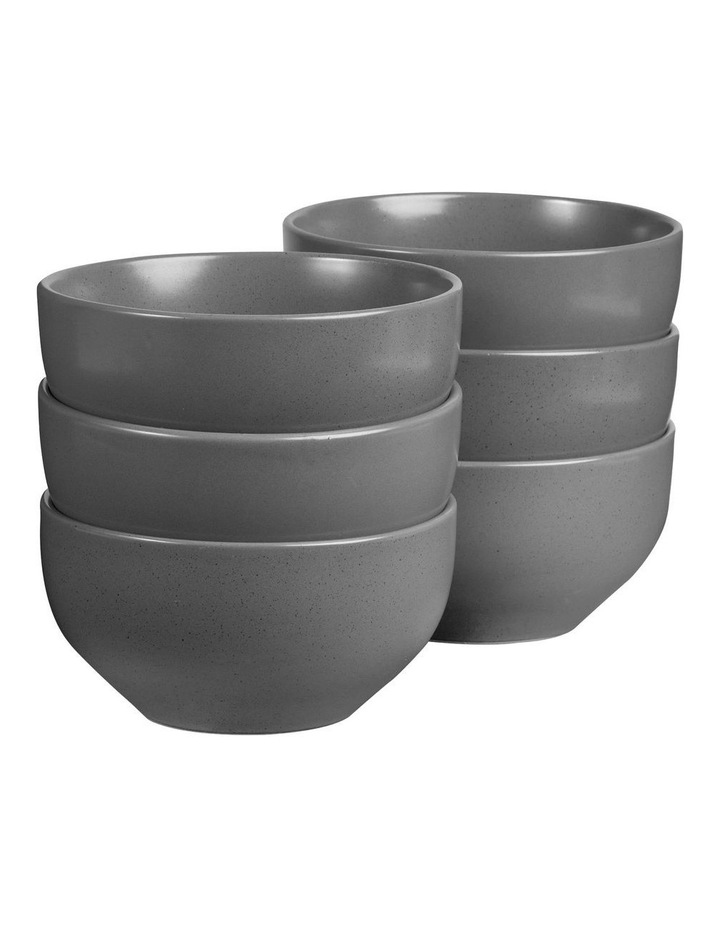 Set of 6 13cm Stoneware Bowls In Charcoal image 1