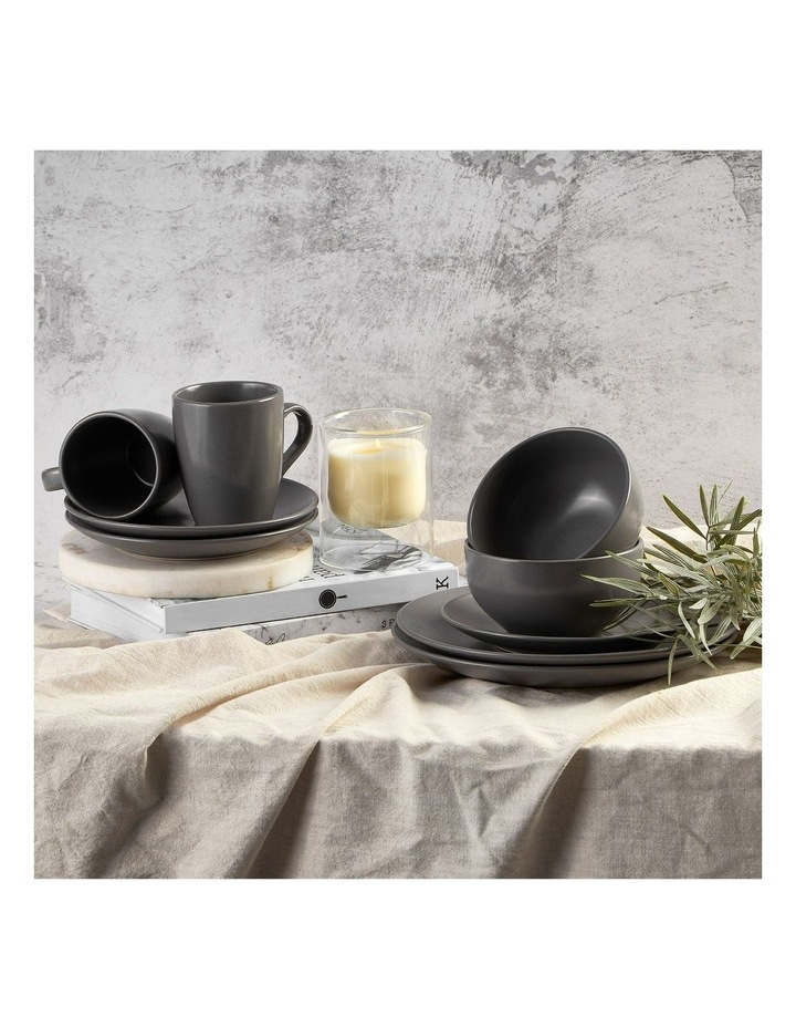 Set of 6 13cm Stoneware Bowls In Charcoal image 2