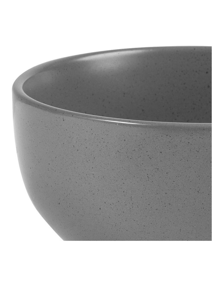 Set of 6 13cm Stoneware Bowls In Charcoal image 4