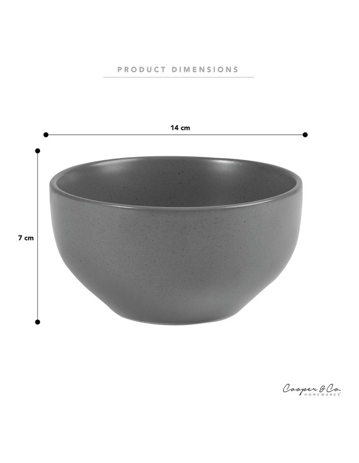 Set of 6 13cm Stoneware Bowls In Charcoal image 5