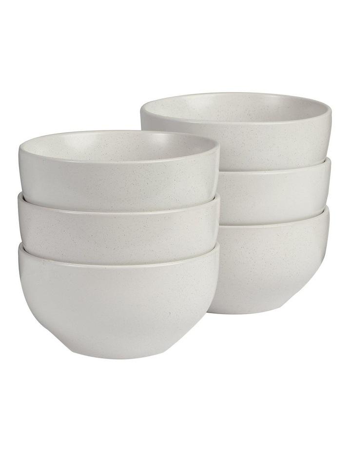 Set of 6 13cm Stoneware Bowls In White image 1