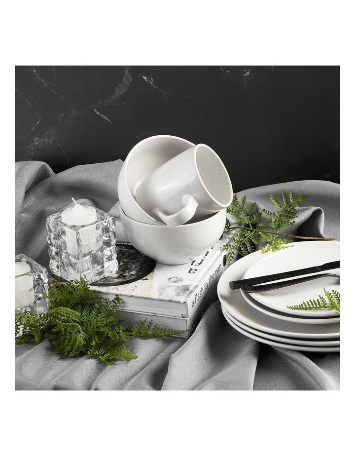 Set of 6 13cm Stoneware Bowls In White image 2