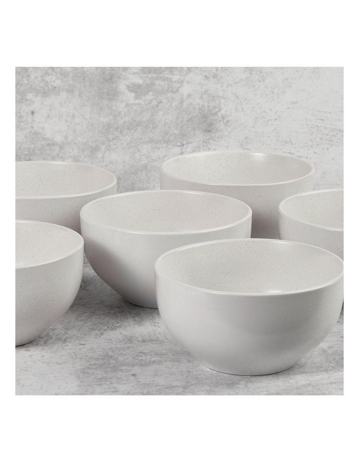 Set of 6 13cm Stoneware Bowls In White image 3