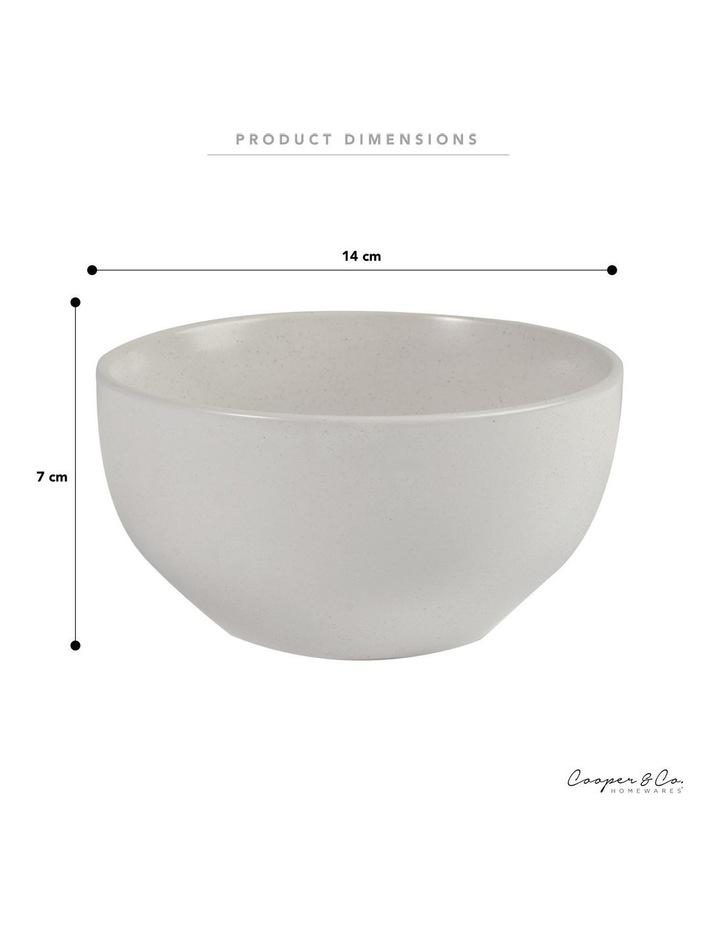 Set of 6 13cm Stoneware Bowls In White image 4