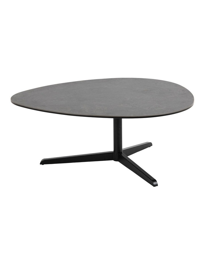 Living 100cm Porcelain Stone Black Austin Coffee Table image 1