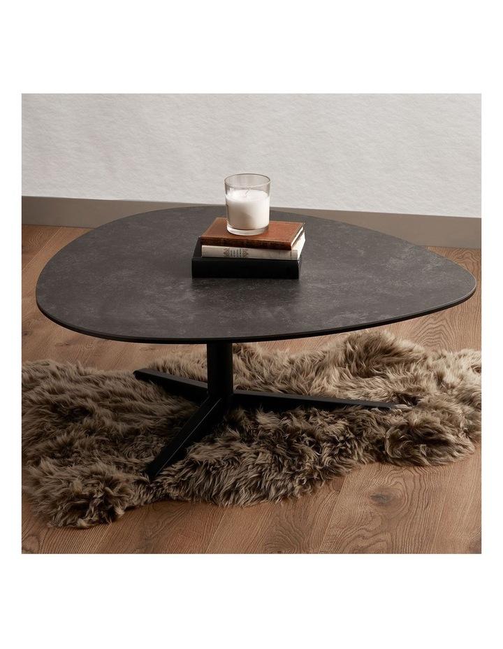 Living 100cm Porcelain Stone Black Austin Coffee Table image 2