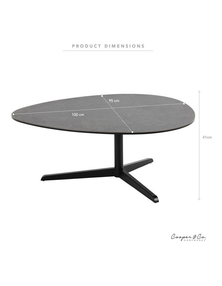 Living 100cm Porcelain Stone Black Austin Coffee Table image 3