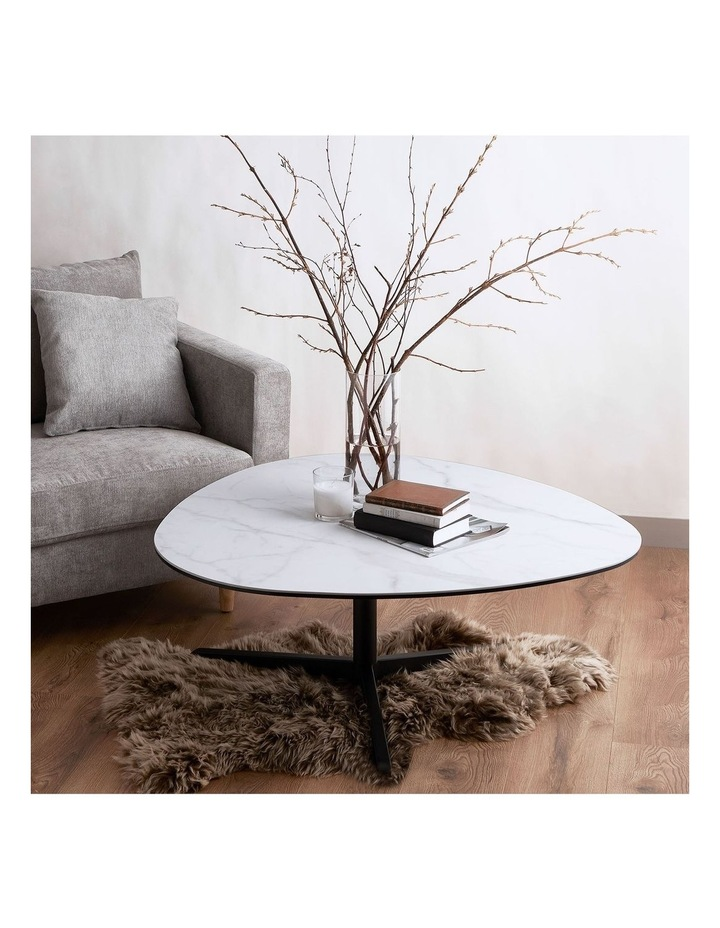 Living 100cm Porcelain White Austin Coffee Table image 2