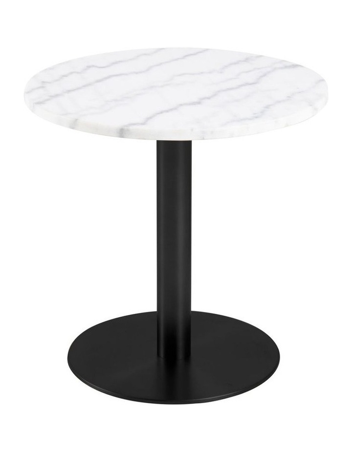 Living 50cm Marble Marais Black Lamp Table image 1