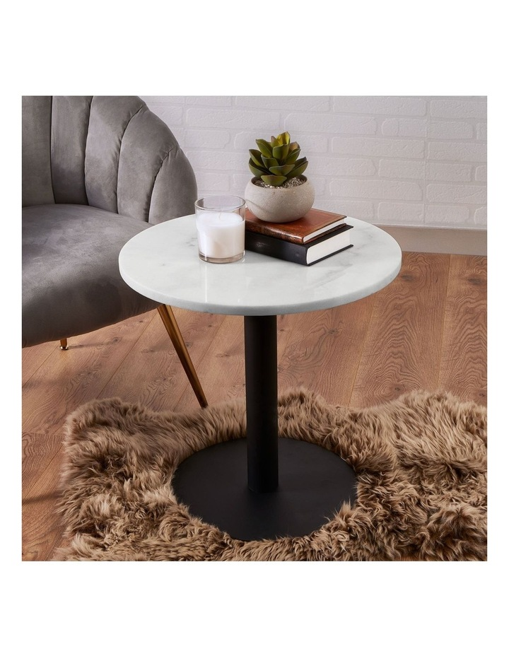 Living 50cm Marble Marais Black Lamp Table image 2