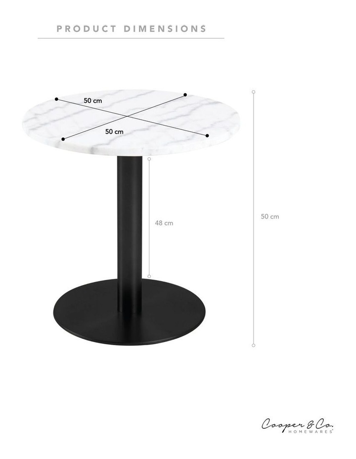 Living 50cm Marble Marais Black Lamp Table image 3