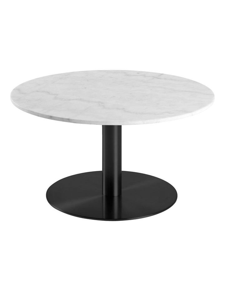 Living 80cm Marble Marais Black Coffee Table image 1