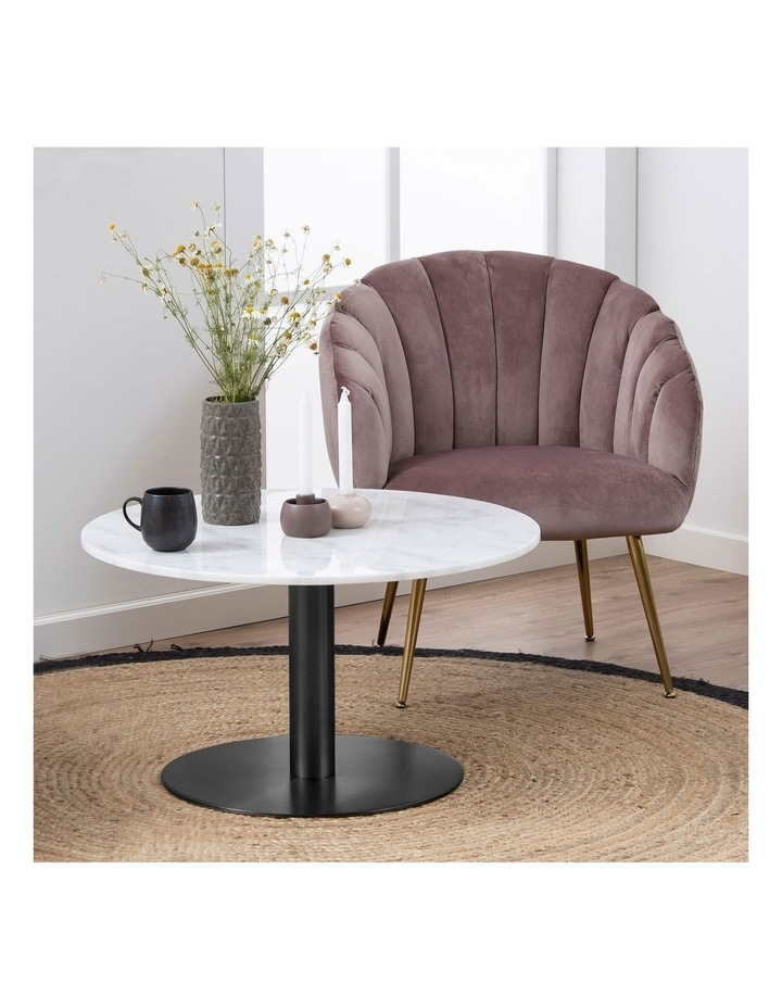 Living 80cm Marble Marais Black Coffee Table image 2