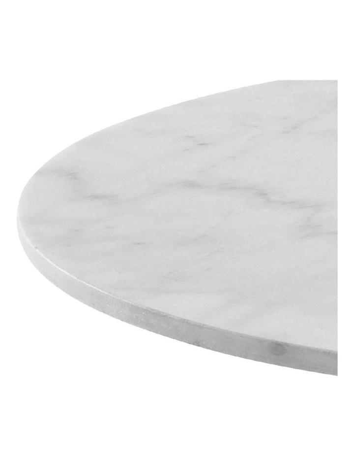 Living 80cm Marble Marais Black Coffee Table image 4
