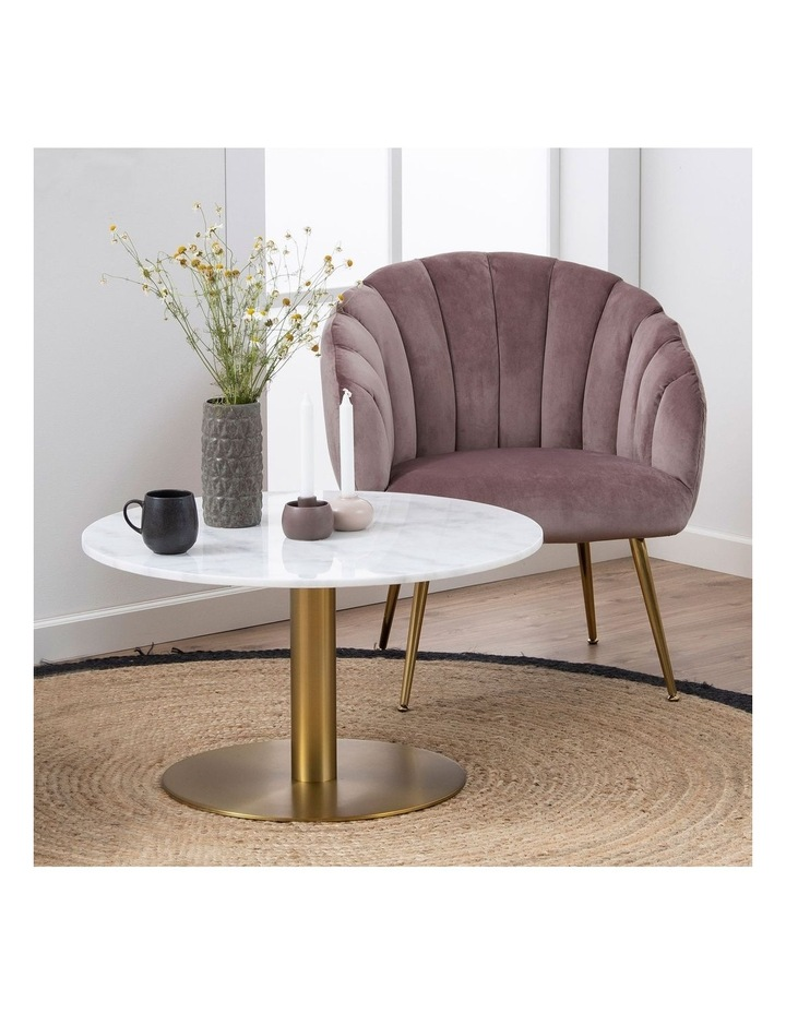 Living 80cm Marble Marais Brass Coffee Table image 2