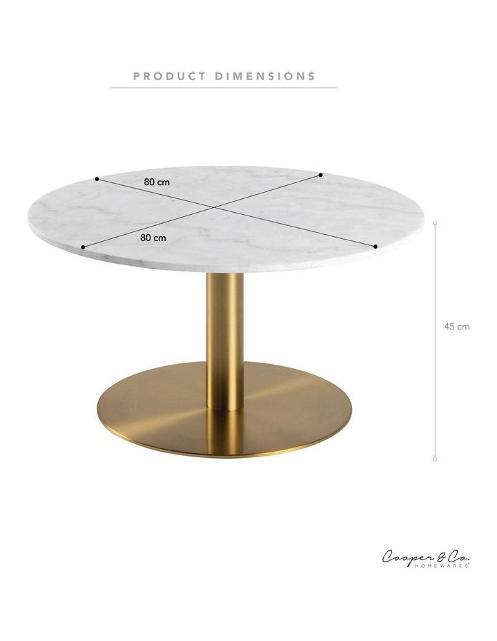Living 80cm Marble Marais Brass Coffee Table image 3