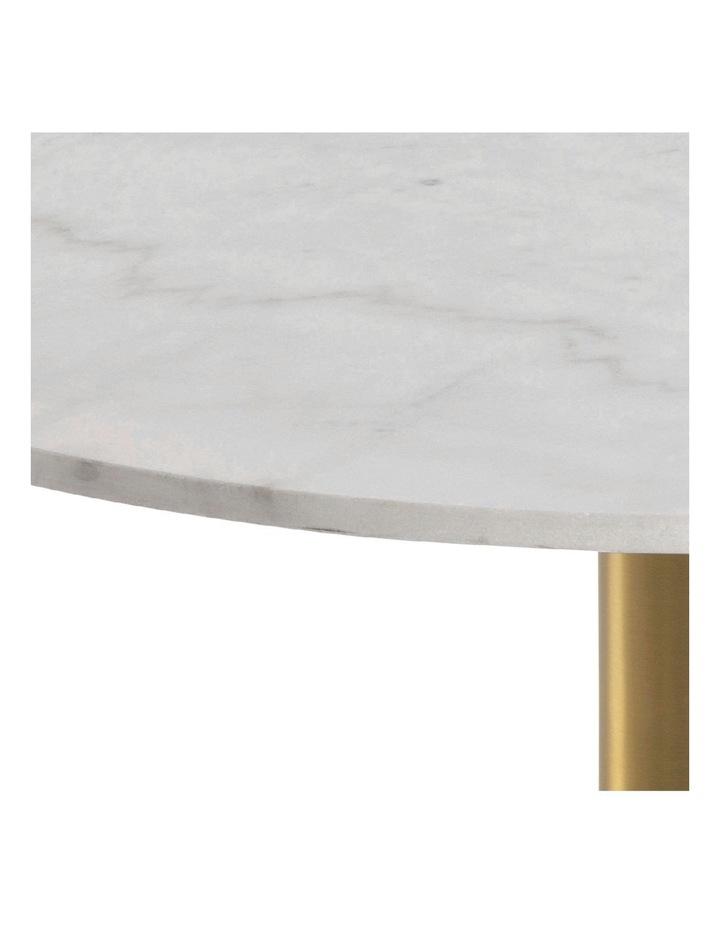 Living 80cm Marble Marais Brass Coffee Table image 5