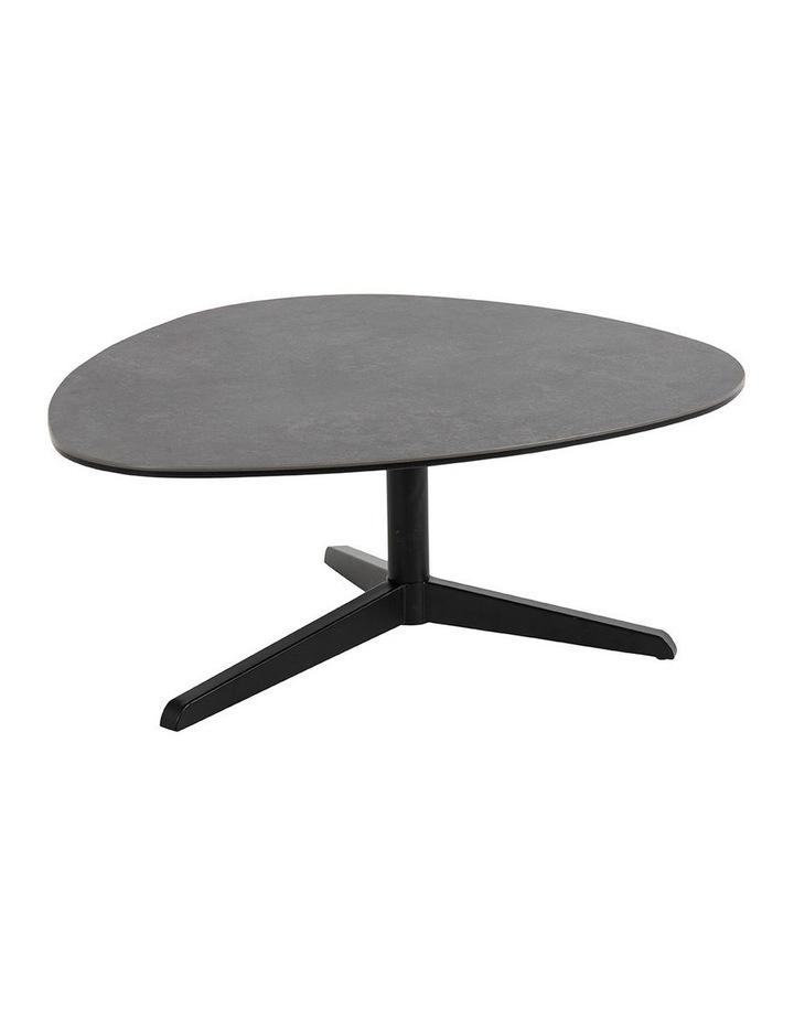 Living 84cm Porcelain Stone Black Austin Coffee Table image 1