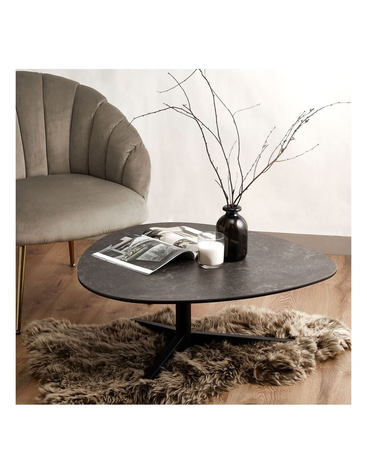 Living 84cm Porcelain Stone Black Austin Coffee Table image 2