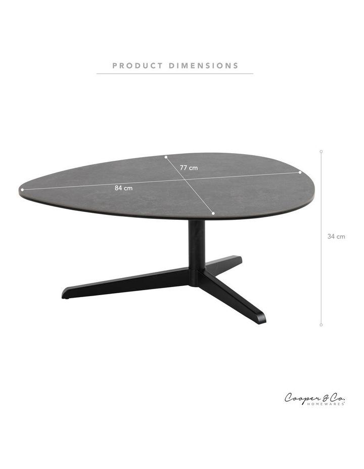 Living 84cm Porcelain Stone Black Austin Coffee Table image 3