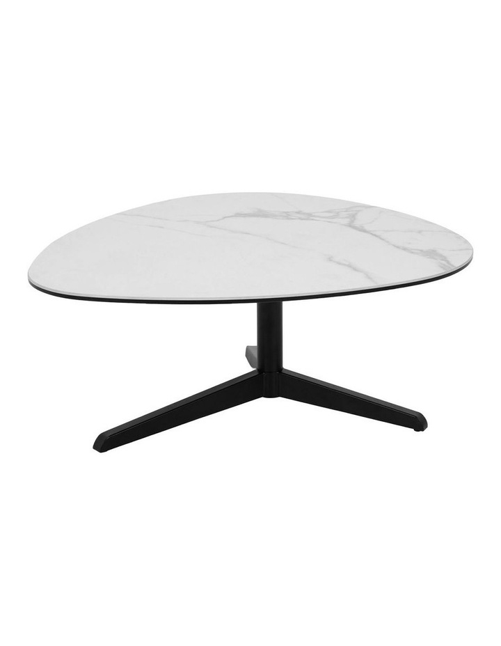 Living 84cm Porcelain White Austin Coffee Table image 1