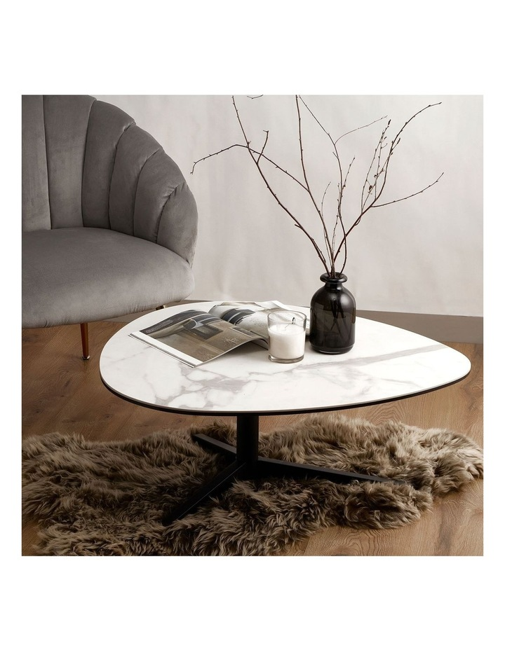 Living 84cm Porcelain White Austin Coffee Table image 2